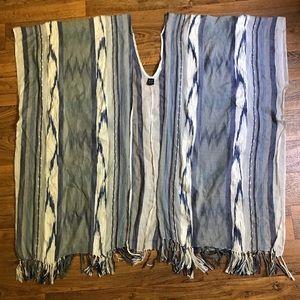 Cejon Accessories Boho Ruana Kimono with Tassels